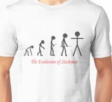 The Evolution of Stickman (w/ title) T-Shirt