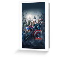 Avengers Age of Utlron  Greeting Card