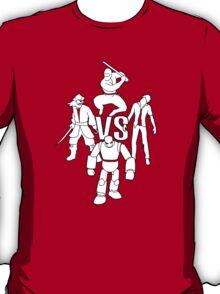pirates vs ninjas vs zombies vs robots T-Shirt