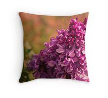 Sunburnt Lilac Throw Pillow