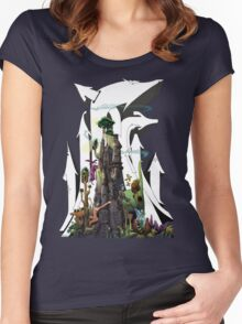 Future Forest Colored version Women's Fitted Scoop T-Shirt