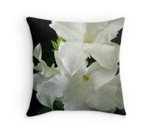 White Jasmine Throw Pillow