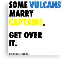 Star Trek - Some Vulcans Marry Captains Metal Print