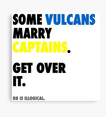 Star Trek - Some Vulcans Marry Captains Canvas Print
