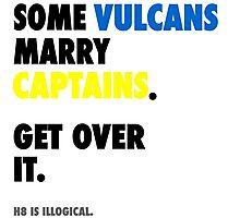 Star Trek - Some Vulcans Marry Captains Photographic Print
