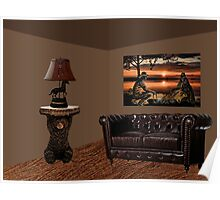 SUNSET COUNTRY DESIGNED ROOM...FEATURING ONE OF MY PICTURES ON RB ..HANGING ON WALL Poster