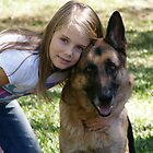 A Girl and her Dog by Caroline Angell