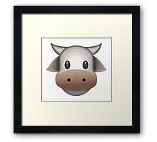Cow Emoji Framed Print