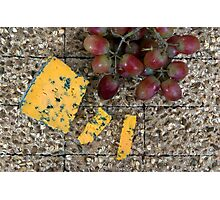Cheese and biscuits Photographic Print