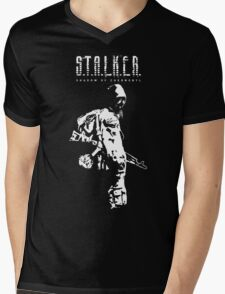Stalker SOC White Mens V-Neck T-Shirt