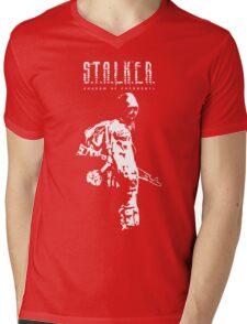 Stalker SOC White Mens V-Neck T-Shirt