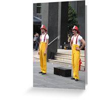 Circus Firemen 1 Greeting Card