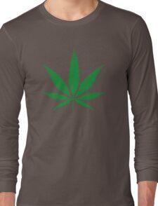 cannabis weed leaf Long Sleeve T-Shirt