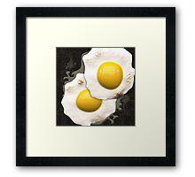 Fried Sunny Side Up Eggs Framed Print