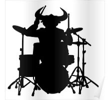 drum evil  drummer music batteur batterie Poster