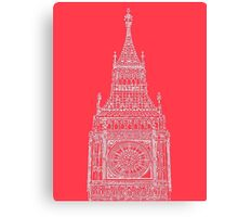 Big Ben In Red Canvas Print