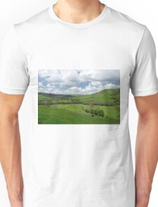 Across the Valley, Thorpe to Ilam  Unisex T-Shirt