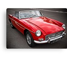 Red convertible MG classic car Canvas Print