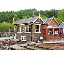 The Signal Box - Levisham Station Photographic Print
