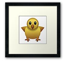 Baby Chicken Emoji Framed Print