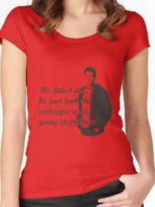 """Cory Monteith """"He didn't die"""" Women's Fitted Scoop T-Shirt"""