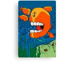 Big mouthed Whale Canvas Print