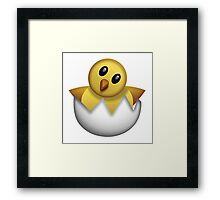Hatching Chick Emoji Framed Print