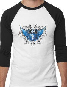 Cyber heraldry in blue Men's Baseball ¾ T-Shirt