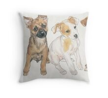 Rat Terrier Puppies Throw Pillow