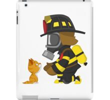 Firefighter rescues kitten iPad Case/Skin