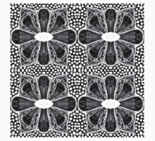 Black and White Flowers Kids Clothes