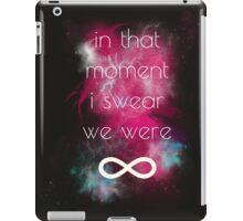 i swear, we were infinite iPad Case/Skin