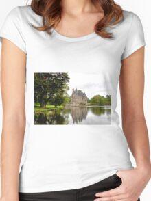 Chateau de La Bretesche  Missillac Women's Fitted Scoop T-Shirt