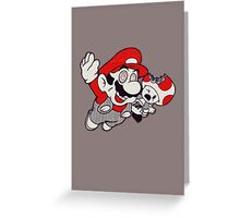 Mario Flying Mushroom Greeting Card