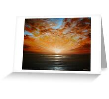 Sunrise Seascape Greeting Card
