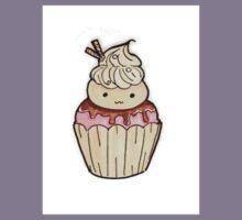 Cute Ice Cream Cupcake  Kids Tee