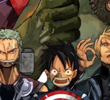 One Piece Avengers Sticker