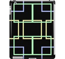 Neon Squares on Black iPad Case/Skin