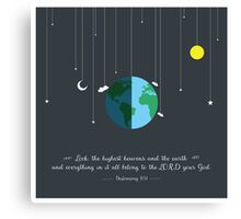 Heavens and the Earth Canvas Print