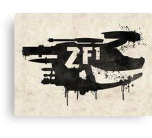 ZF1 Black Canvas Print
