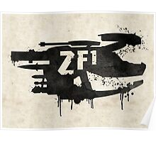 ZF1 Black Poster