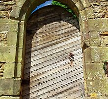 Door of Battle Abbey, East Sussex by Ludwig Wagner