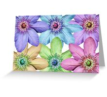 Clematis Pattern Greeting Card