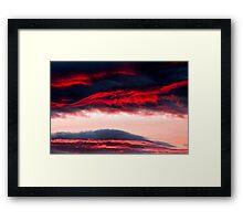 Fire in clouds Framed Print