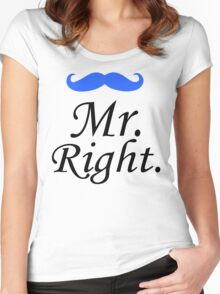 Mr. Right - Mrs. Always Right Couples Design Women's Fitted Scoop T-Shirt