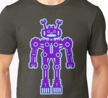 Purple and Blue Robot  Unisex T-Shirt