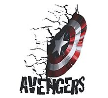 Avengers - Crushed Captain Photographic Print