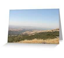 From Near the Top of Mount Diablo Greeting Card