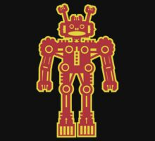 Yellow and Red Robot by Artberry
