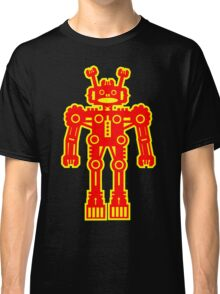 Yellow and Red Robot Classic T-Shirt